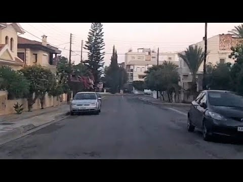 Driving From The Suburbs To The Old City Of Nicosia, Cyprus (2018)