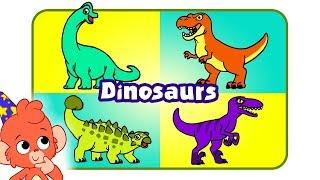 Learn Dinosaur Names | Learn Dinosaurs Names and Sounds | T rex Raptor Brachiosaurus