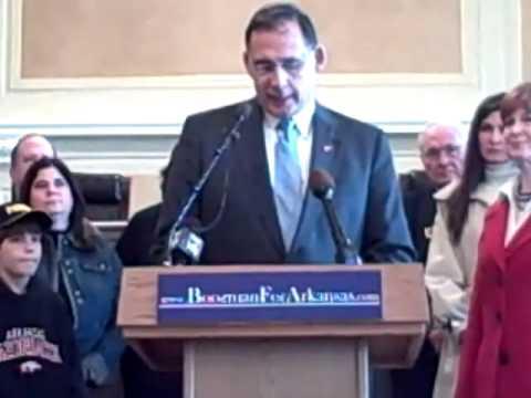Rep. John Boozman Announcment for U.S. Senate