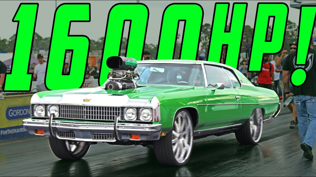 GREEN MACHINE : SUPERCHARGED 632 BIG BLOCK DONK - Money on the Line Car  Show & Grudge Race