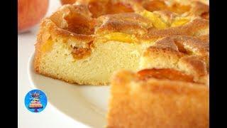 Абрикосовый пирог с персиками/Воздушный, легкий и очень вкусный!!!