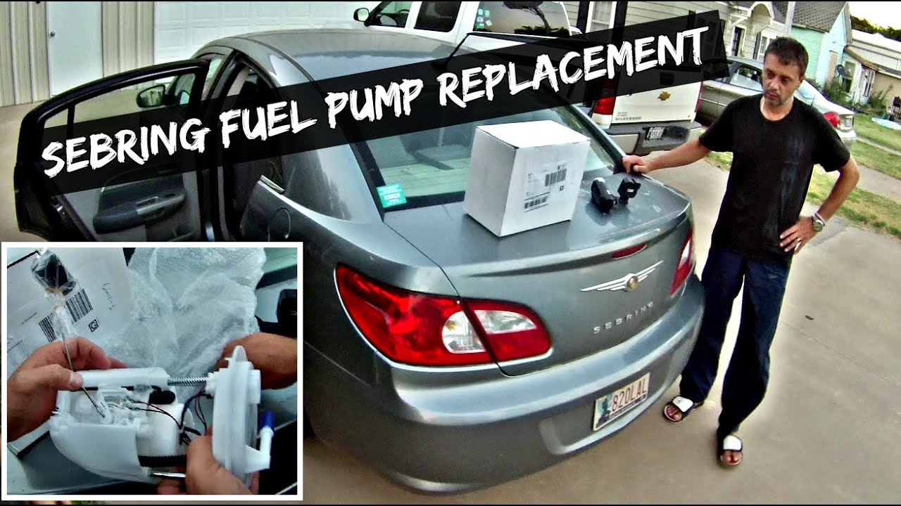 chrysler sebring fuel pump replacement 2007 2008 2009 2010 - youtube  youtube