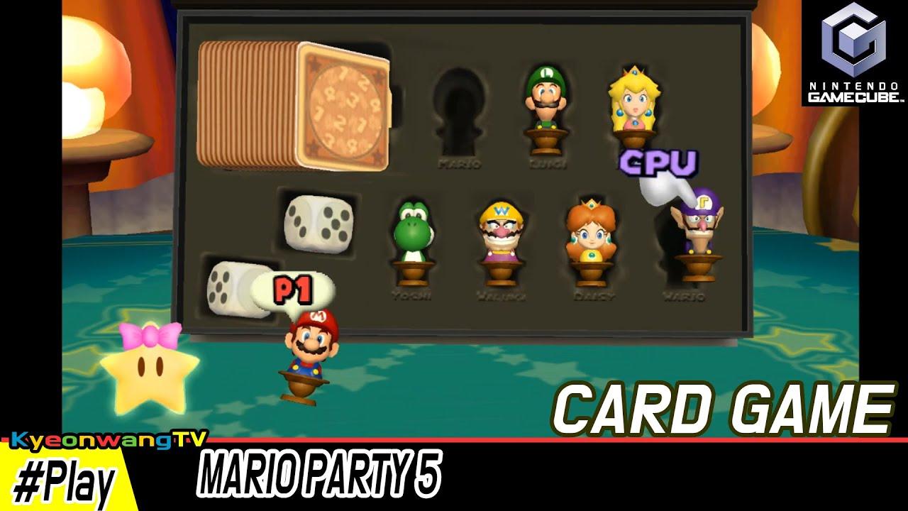 MARIO PARTY 5 (Card Game Mode) #007 Mario vs Peach vs Daisy vs Waluigi