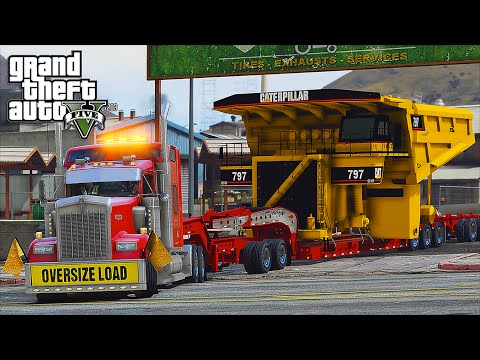 American Truck Simulator Heavy Haul Mod LSPDFR Escort in Grand Theft Auto V Online