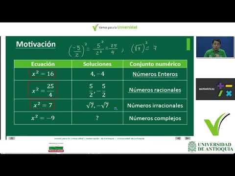 MATEMÁTICAS clase 16 (Andrés Barrera)Introducción a los números complejos