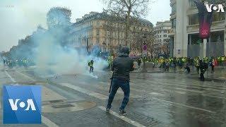 Tear Gas, Water Cannon, Scuffles: