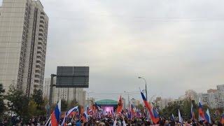 """К """"России без Путина"""" призвали участники митинга оппозиции в Марьино"""