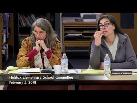 Halifax Elementary School Committee-February 5, 2018 (02/05/18)