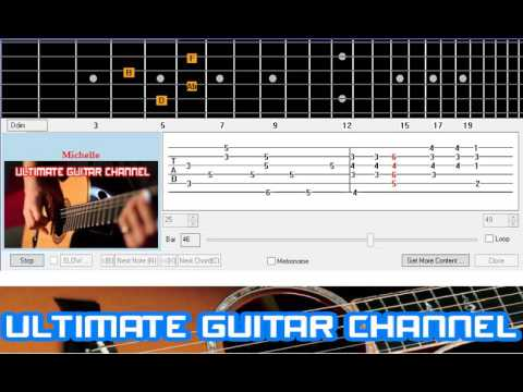Guitar Solo Tab Michelle The Beatles Youtube