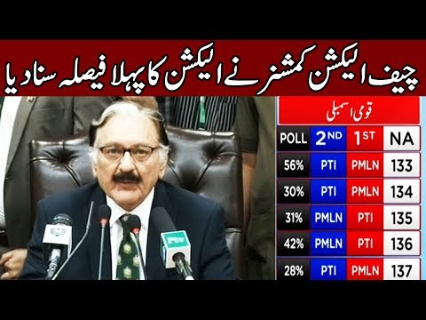 Chief Election Commissioner announces first unofficial result | 25 July 2018 | Express News