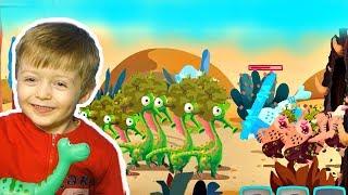 Игра про Динозавров для Детей Защищаем Яйцо от Траглодитов #5  Мультик про Динозавров Lion boy