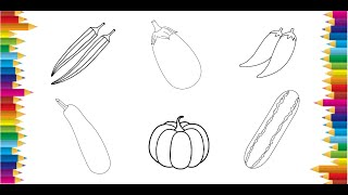 vegetables draw easy drawing
