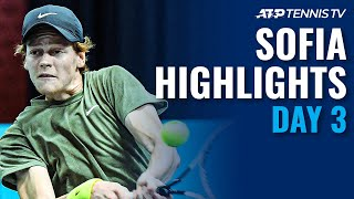 Shapovalov Shocked by Albot; Sinner & Gasquet Safely Through | Sofia Open 2020 Highlights Day 3