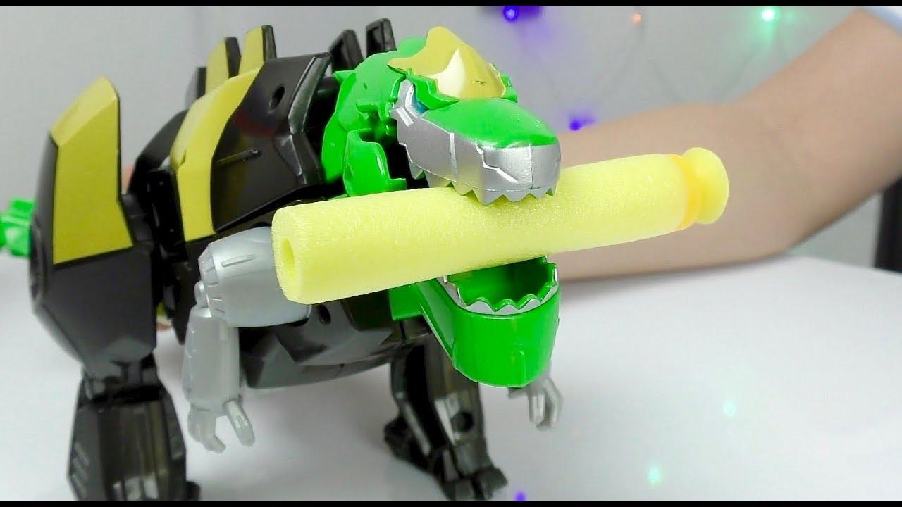 Трансформеры автоботы Игрушки из мультика Оптимус Прайм и Динобот Видео для детей Transformers