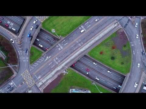 Manchester city centre DJI drone footage 4k