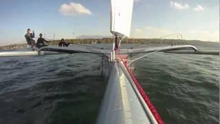 Repeat youtube video P28 Foiler solid sail prototype