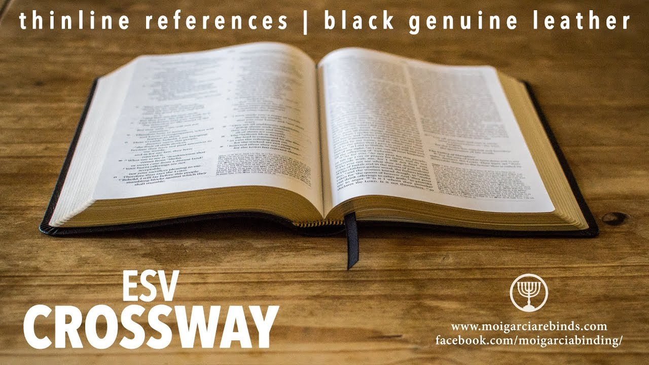 CROSSWAY ESV | THINLINE REFERENCE BIBLE BLACK GENUINE LEATHER