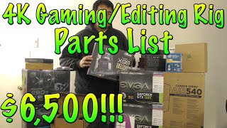 4k Gaming / Editing Pc Parts List (pre Build) | I7 5960x, Gtx 980 Sli, Asus X99 Deluxe...