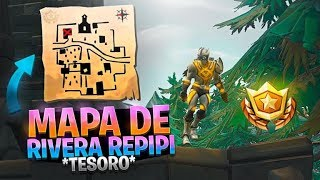 🌟 SIGUE EL MAPA DEL TESORO DE RIBERA REPIPI 100% REAL #FORTNITE 🌟