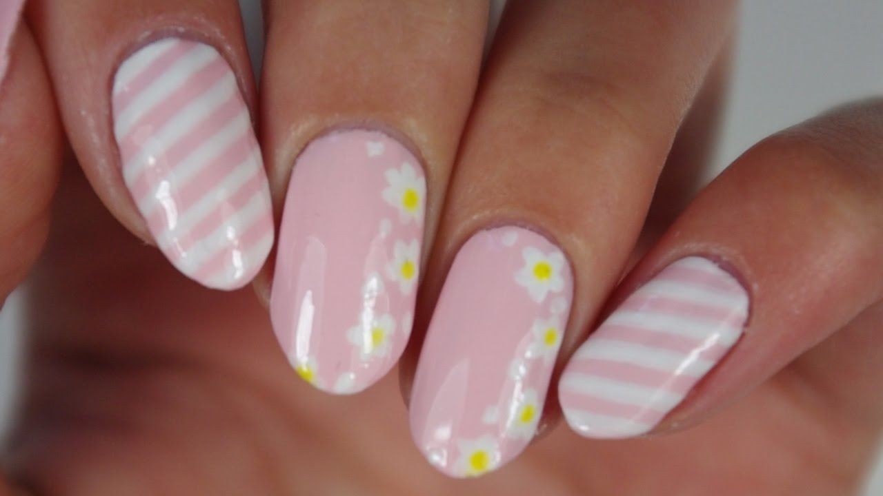 Nail art facile des fleurs pour le printemps youtube - Nail art printemps ...