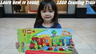 Unboxing LEGO Learn to Count Train w/ Hulyan & Maya