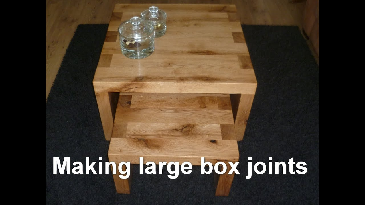 tweakwood making a rustic oak coffee table set with large box