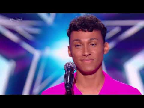 """Damien Performs Meghan Trainor Songs """"All About That Bass""""  On France's Got Talent !"""