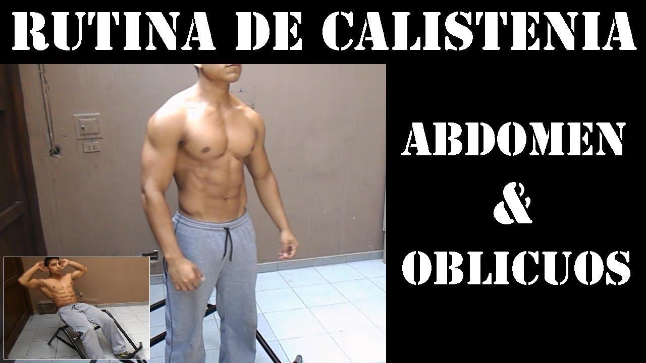 Rutina para abdominales y oblicuos youtube for Abdominales