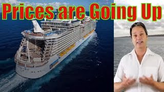 Prices go up for cruise extras -  your paying more for your cruise