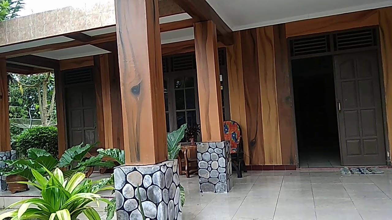 Rumah Limasan dengan cat motif kayu.. - YouTube