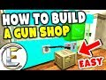 How To Build A Gun Shop - Gmod DarkRP (Easy To Build Less Than 10 Minutes)