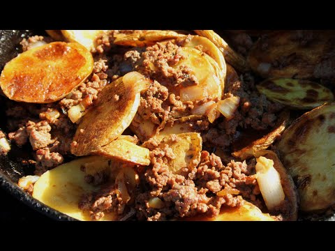How to make Ground Beef and Potatoes   Cooking with Dad