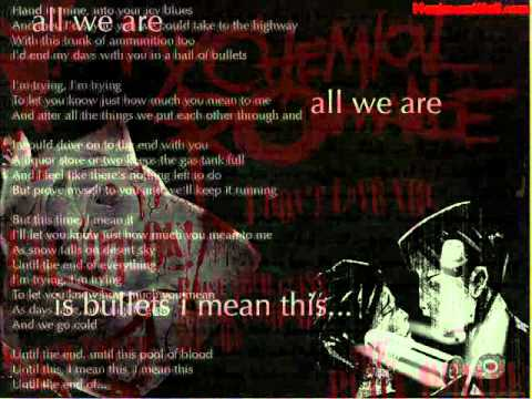 My Chemical Romance - Demolition Lovers LYRICS ON SCREEN