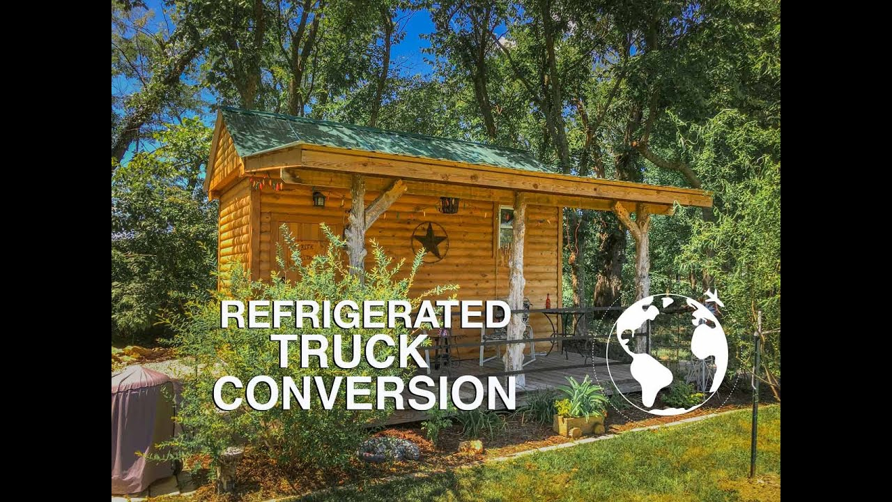93afa88878 Refrigerated Box Converted into Tiny Cabin - YouTube