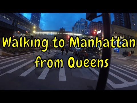 ⁴ᴷ Walking Long Island City to Midtown Manhattan via Queens Plaza and Queensboro (59th St) Bridge