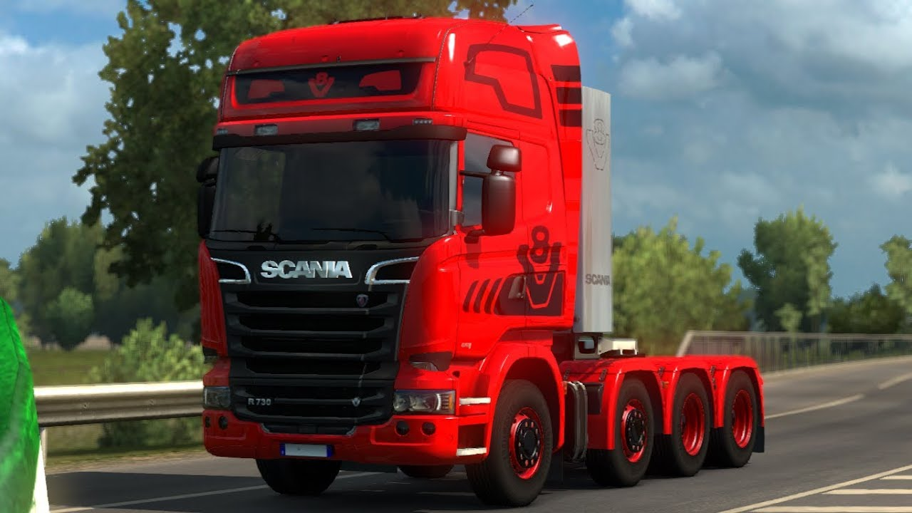 Euro Truck Simulator 2 Mods Scania V8 Sound 1 28 Youtube