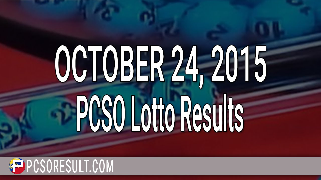 PCSO Lotto Results October 24, 2015 (6/55, 6/42, 6D ...