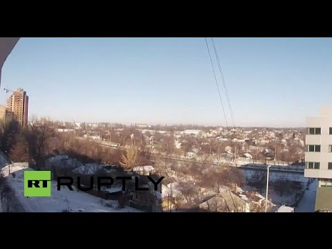 LIVE: Camera facing Donetsk airport amid continued fighting