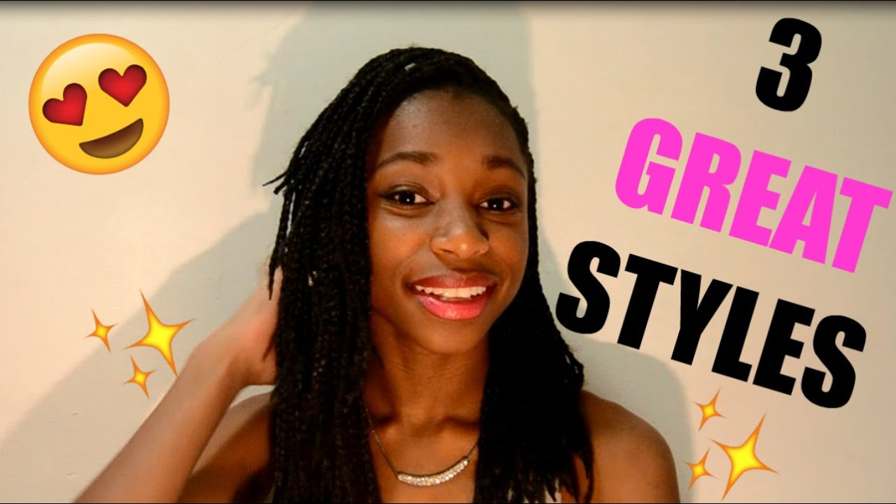 BOX BRAIDS3 Quick Styles for Medium