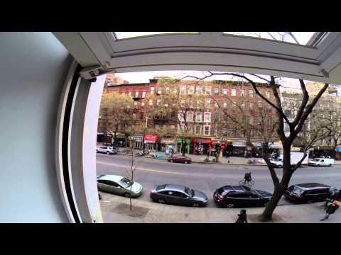 Manhattan Apartment Wall Opens Like a Garage Door