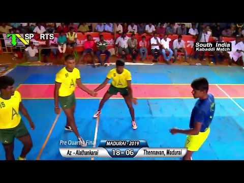 PQF - Alathankari,Kanyakumari Vs Thennavan,Madurai | South India Level Kabaddi Match @ Madurai 2019