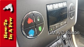 How To: Fix Scratched Flaking A/C Buttons on GM Cars