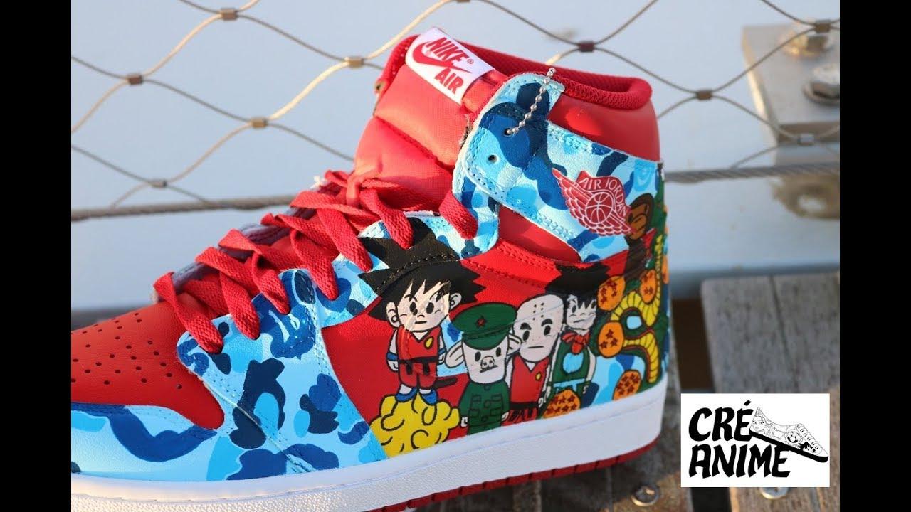 141dde08c83 Custom sneakers FR - Air Jordan 1 Metallic Red x Bape x Dragon Ball ...