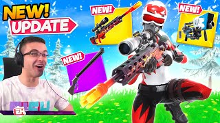 Nick Eh 30 reącts to NEW Exotic Sniper and Grenade Launcher!