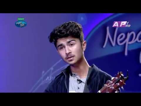 Sumit Pathak Nepal Idol - Galti Hajar Hunchan Cover Song in Audition Round