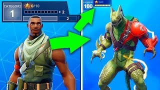 The new method to QUICKLY pick up Skins at maximum Level at Fortnite..