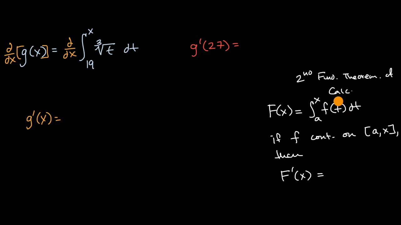 Finding derivative with fundamental theorem of calculus