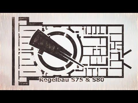 Atlantic Wall Regelbau S75 & Regelbau S80 - 38cm S.K.C/34 Naval Gun Turret - The Adolf Gun Bunker