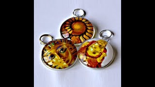 How To Make Beautiful Glass Pendants - No Bezel or Trays - Easy!