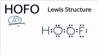 HOFO Lewis Structure: How to Draw the Lewis Structure for HOFO
